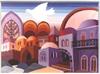 Jerusalem in purple miniature