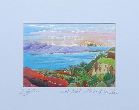 Mount Arbel signed print