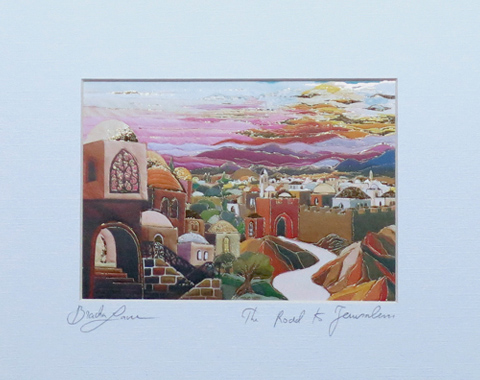 The road to Jerusalem signed print