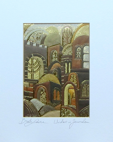 Windows in Jerusalem signed print