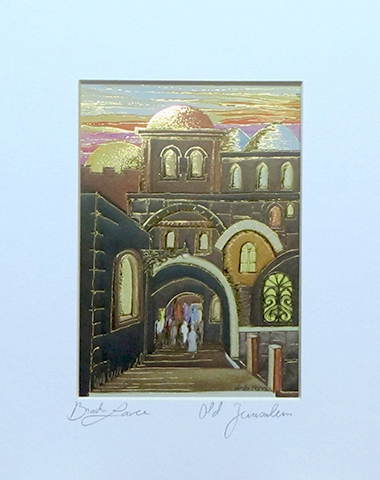 Old Jerusalem signed print