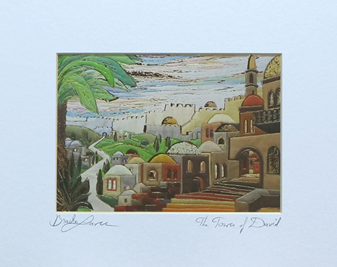 The tower of David signed print