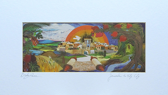 Jerusalem the holy city special signed print