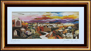 Jerusalem sky line special print