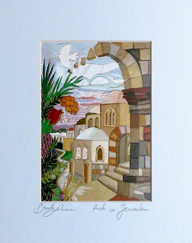 Arches of Jerusalem signed print