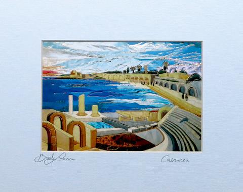 Caesarea signed print