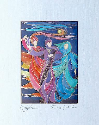 Dancing Miriam signed print