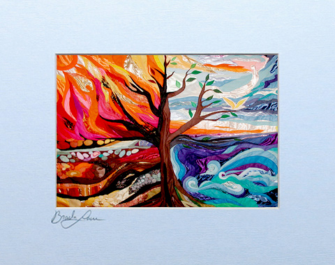 Four elements signed print