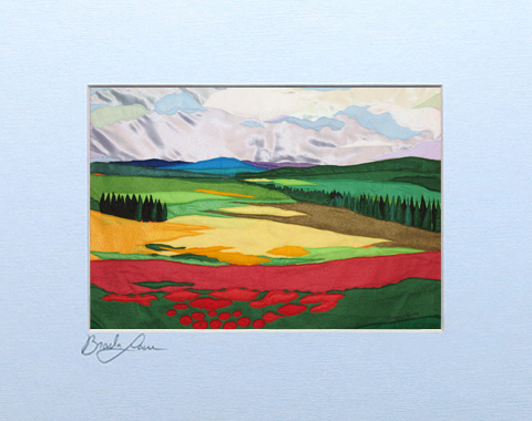 Izrael valley signed print