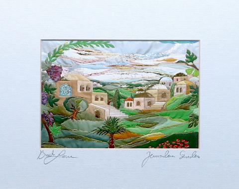 Jerusalem garden signed print