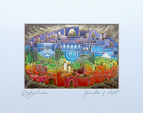 Jerusalem of light signed print