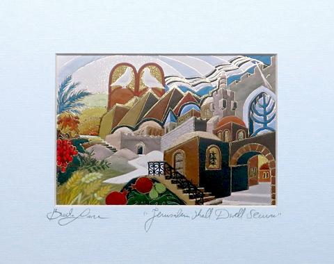 Jerusalem shall dwell secure signed print