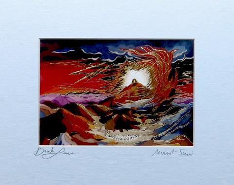 Mount Sinai signed print