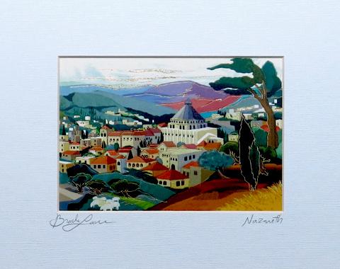 Nazaret signed print