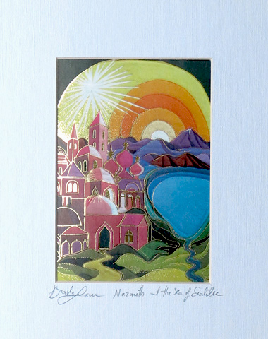 Nazareth and sea of galilee signed print