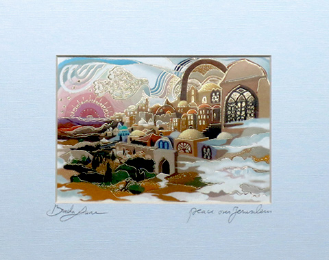 Peace over Jerusalem signed print
