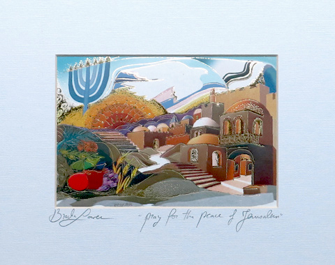 Pray for the peace of Jerusalem signed print