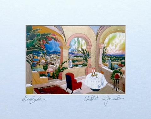 Shabbat signed print