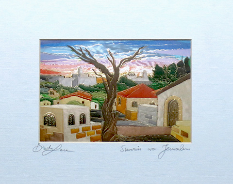Sunrise in Jerusalem signed print