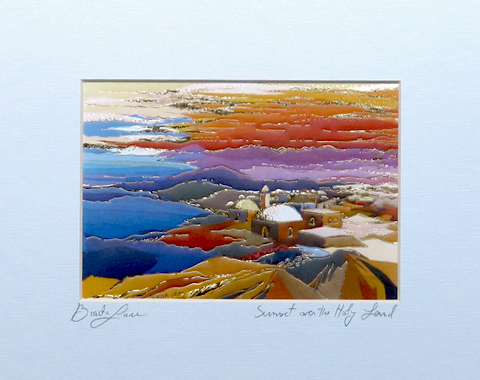 Sunset in Israel signed print