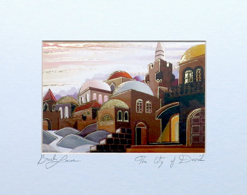 The city of David signed print