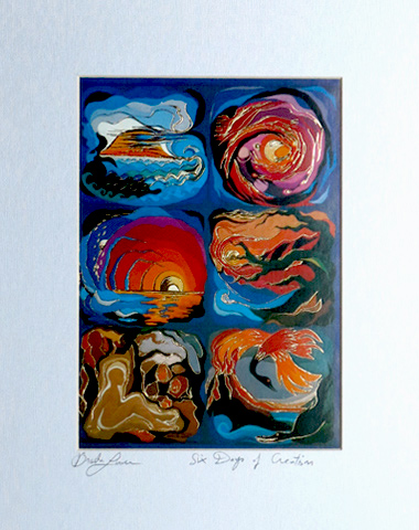 The creation signed print