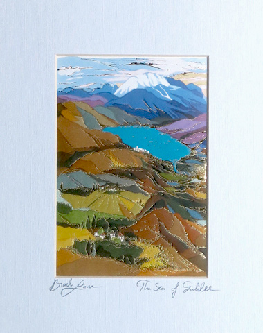 The sea of Galilee signed print