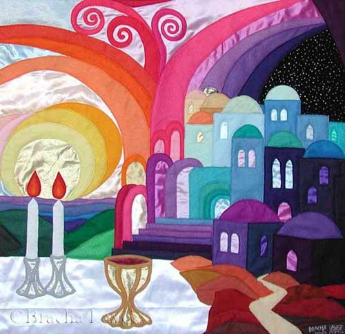 Beautiful Shabbat original tapestry