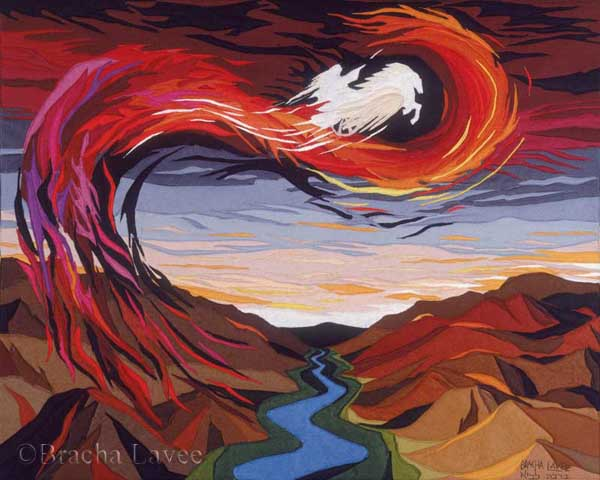 Elijah original tapestry