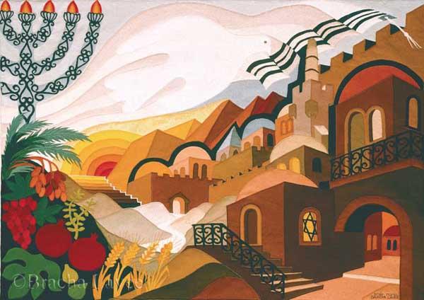 Jerusalem forever original tapestry