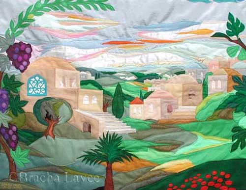 Jerusalem garden original tapestry