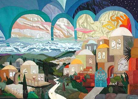 Jerusalem horizon original tapestry
