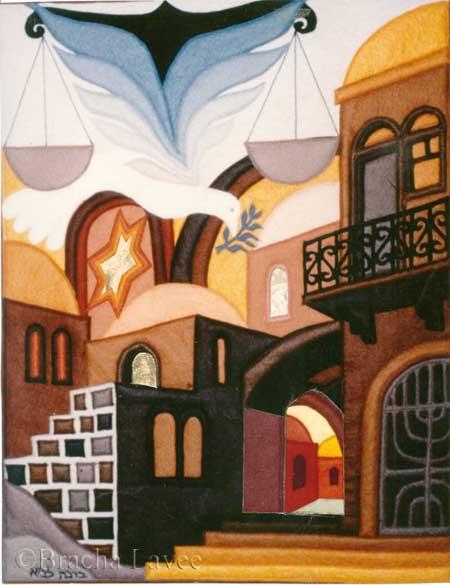 Jerusalem of justice original tapestry