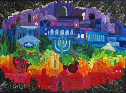 Jerusalem of light original tapestry