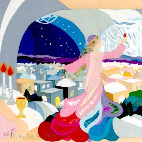 Shabbat queen original tapestry
