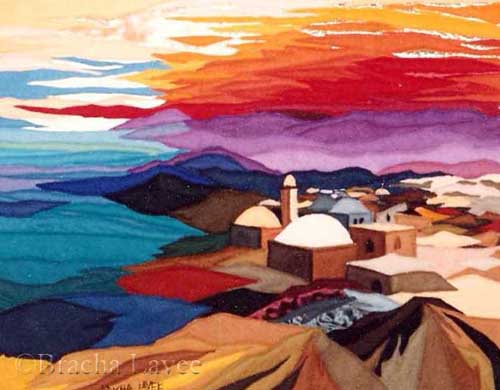 Sunset in Israel original tapestry