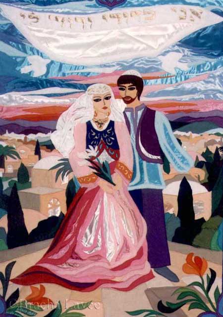 The wedding original tapestry