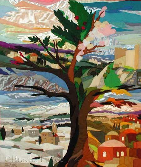 Tree of seasons original tapestry