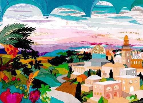 United Jerusalem original tapestry
