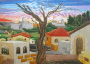 Sunrise in Jerusalem design
