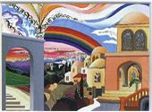 The peace rainbow miniature
