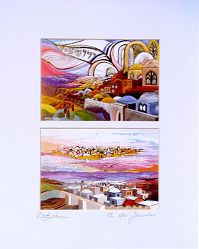 Jerusalem double special signed print