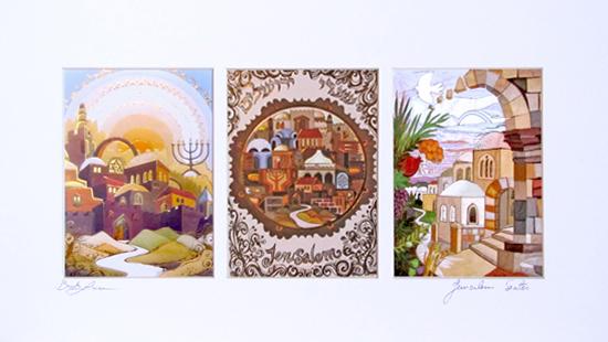 Jerusalem triptych special signed print