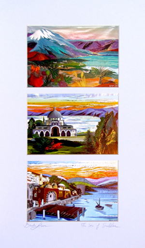 Landscapes triple special signed print