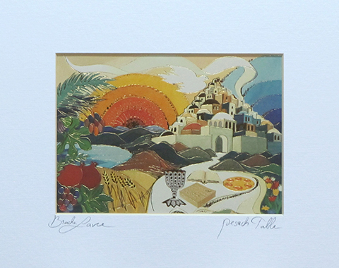 Pesach table signed print