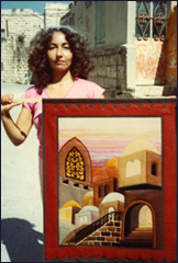 Bracha Lavee with one of her earlier works