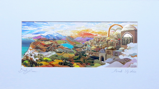 Israel sky line special signed print