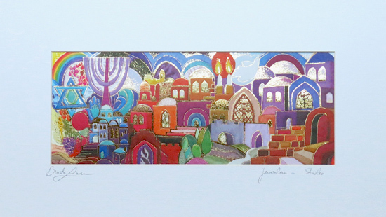 Jerusalem in shades special signed print