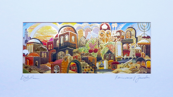 Reminiscences in Jerusalem special signed print