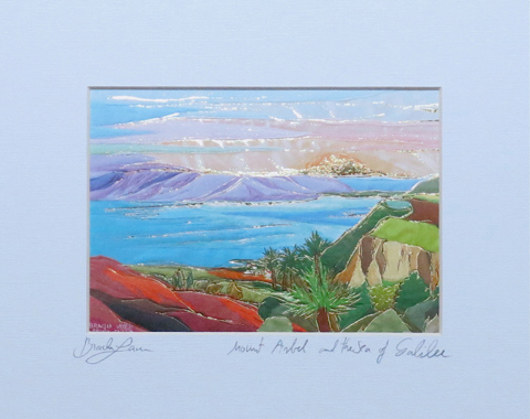 Mount Arbel signed print